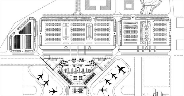 Wondrous Airport Cad Drawings 1 Gmtry Best Dining Table And Chair Ideas Images Gmtryco