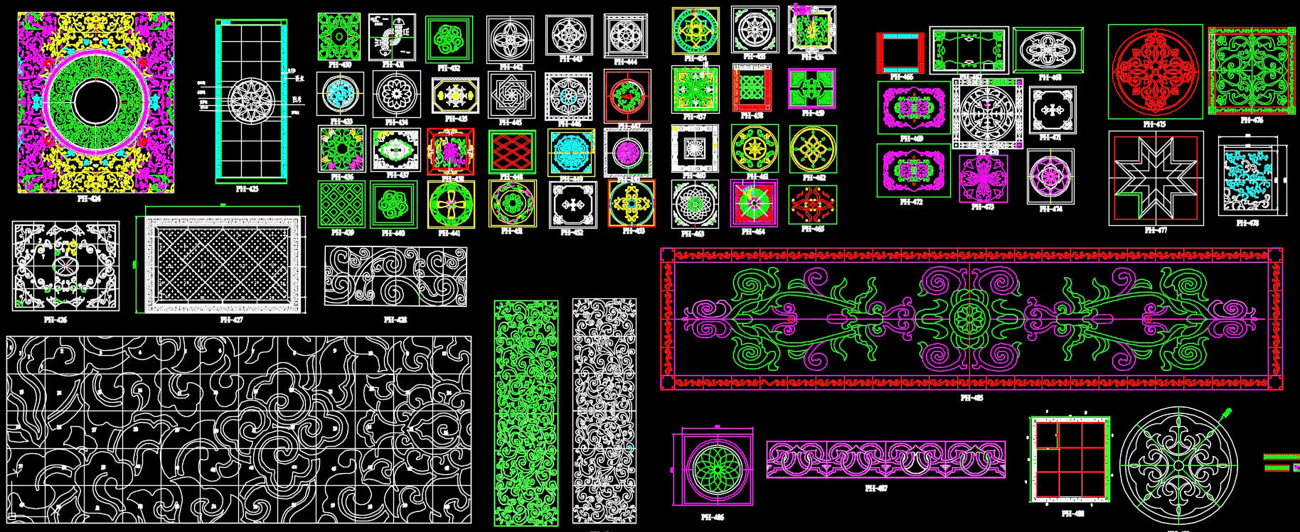 639 Types of Paving Design CAD Blocks
