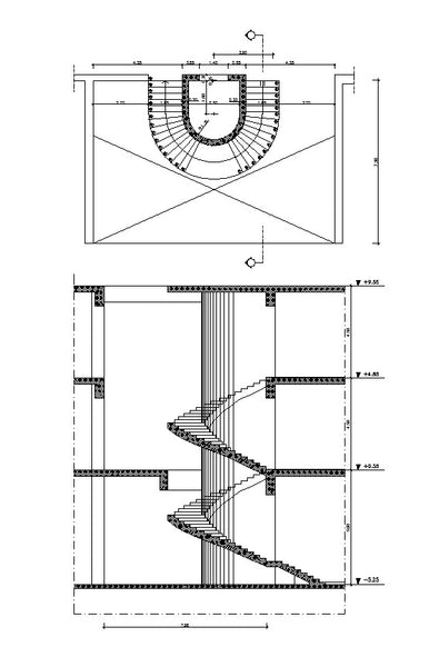 Free Spiral Stair Details – CAD Design | Free CAD Blocks,Drawings
