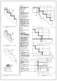 Ornamental Stair and Elevation - CAD Design | Download CAD Drawings | AutoCAD Blocks | AutoCAD Symbols | CAD Drawings | Architecture Details│Landscape Details | See more about AutoCAD, Cad Drawing and Architecture Details