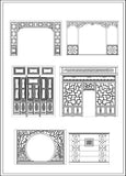 Indoor & Outdoor Decorative Screens - CAD Design | Download CAD Drawings | AutoCAD Blocks | AutoCAD Symbols | CAD Drawings | Architecture Details│Landscape Details | See more about AutoCAD, Cad Drawing and Architecture Details