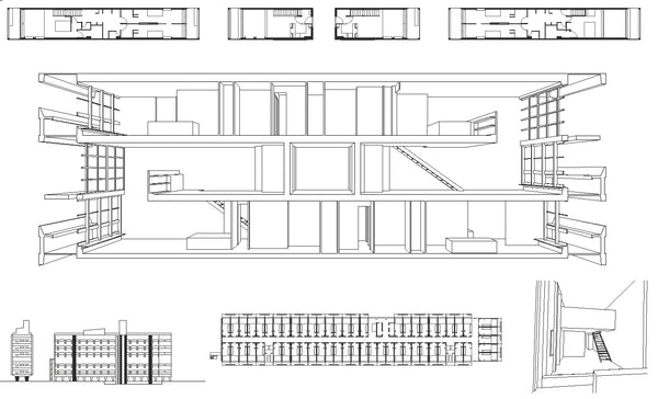 Unit 233 D Habitation Cad Design Free Cad Blocks Drawings