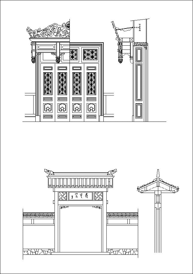 Chinese Architecture Drawings Cad Design Free Cad