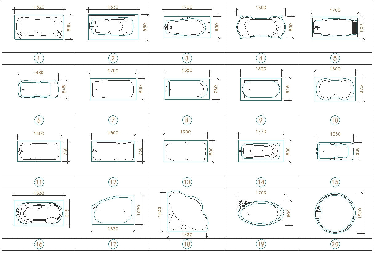 Toilet and Bathroom Cad Set - CAD Design | Free CAD Blocks ...