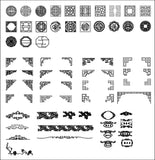 All Chinese Carved CAD Elements V.1(Best Recommanded!!) - CAD Design | Download CAD Drawings | AutoCAD Blocks | AutoCAD Symbols | CAD Drawings | Architecture Details│Landscape Details | See more about AutoCAD, Cad Drawing and Architecture Details