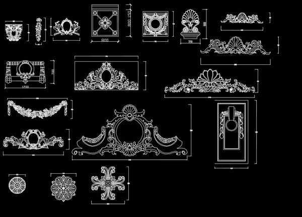 Architectural Decorative Elements 2 Cad Design Free