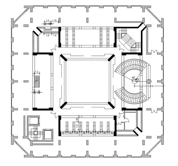 Exeter Library - Louis Kahn – CAD Design | Free CAD Blocks,Drawings ...