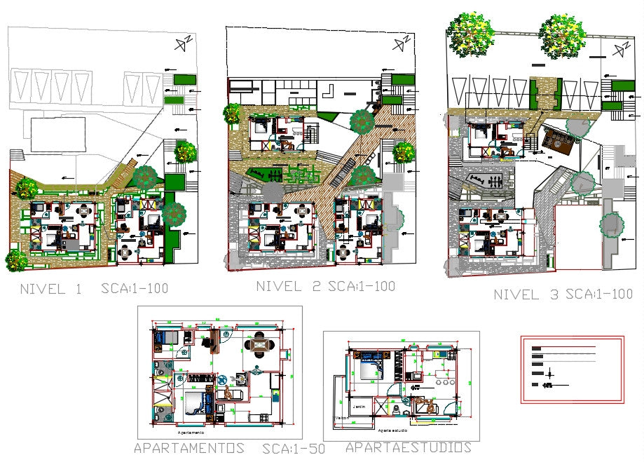 Apartment planing design drawing