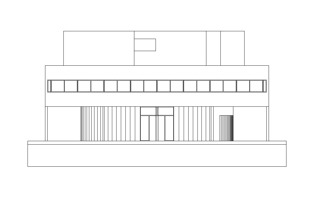 Villa Savoye Cad Design Free Cad Blocks Drawings Details
