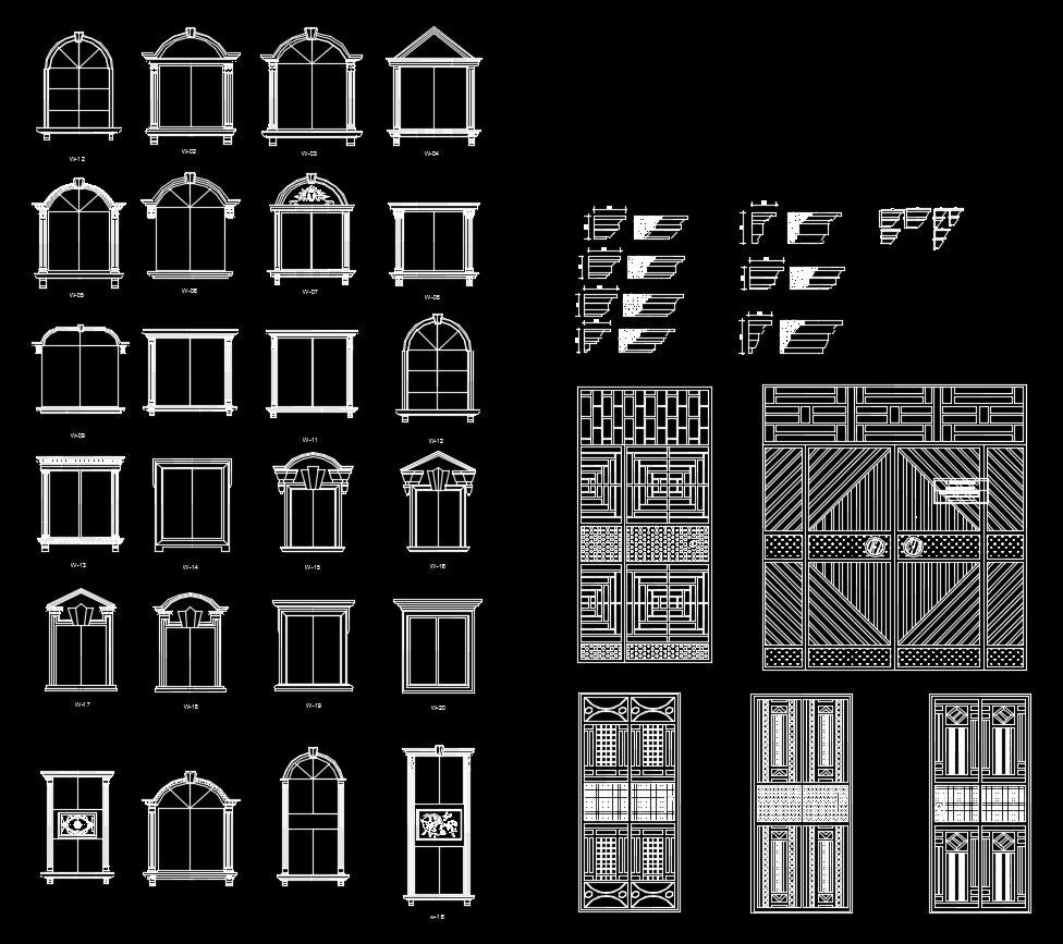 Free Cad Blocks: Architectural Decorative Blocks – CAD Design