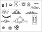 All Architectural decorative blocks V.11 - CAD Design | Download CAD Drawings | AutoCAD Blocks | AutoCAD Symbols | CAD Drawings | Architecture Details│Landscape Details | See more about AutoCAD, Cad Drawing and Architecture Details