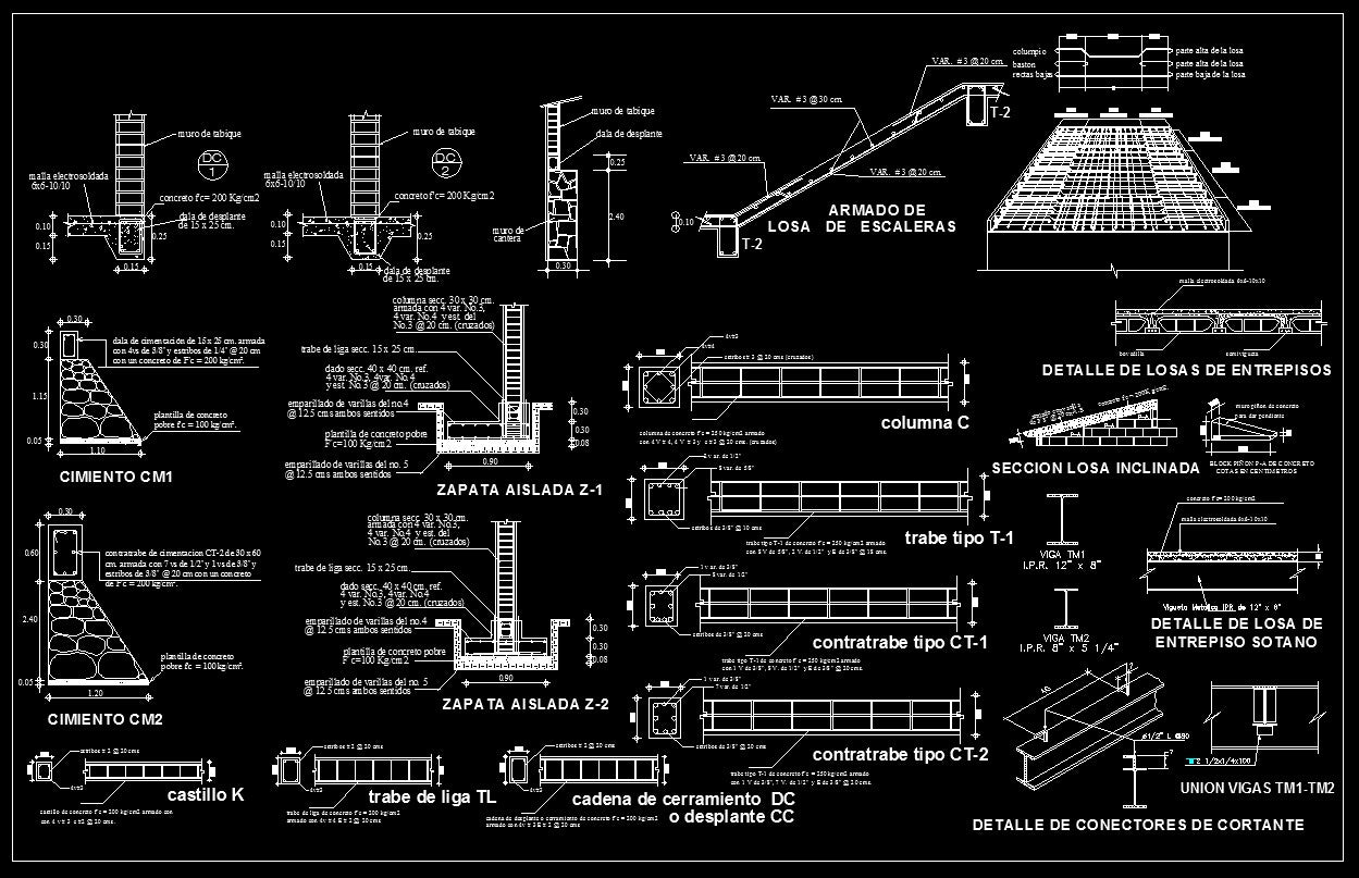 Concrete Details Cad Design Free Cad Blocks Drawings