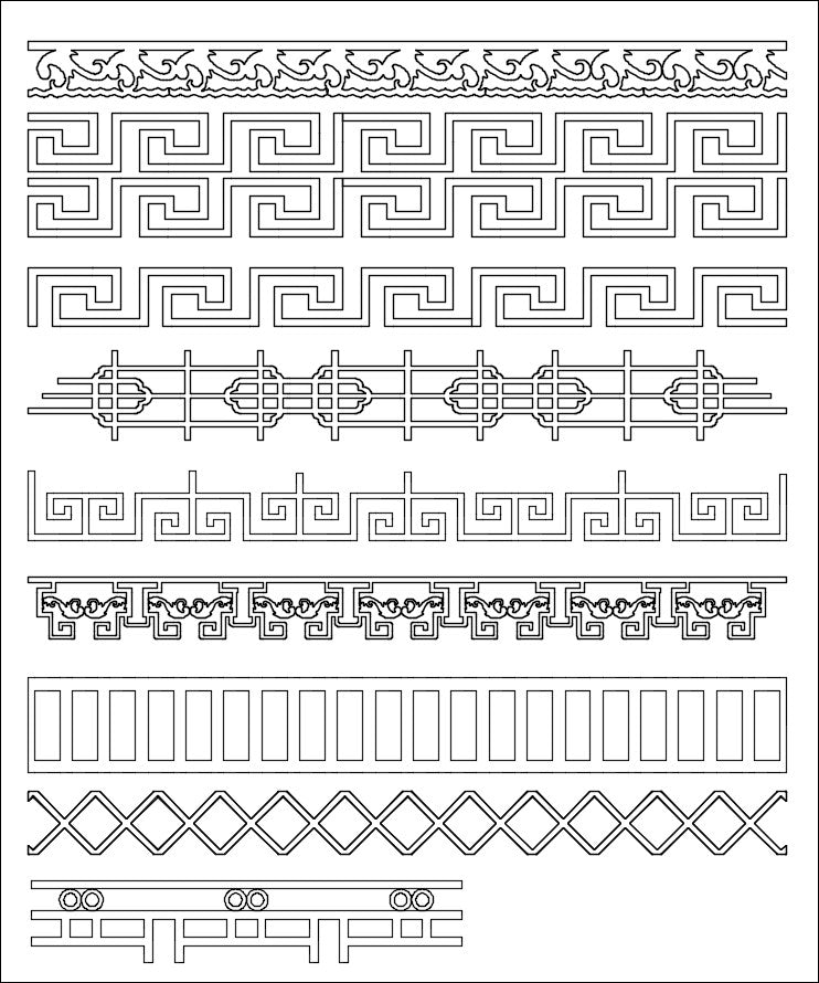 All Chinese Carved CAD Elements V.1