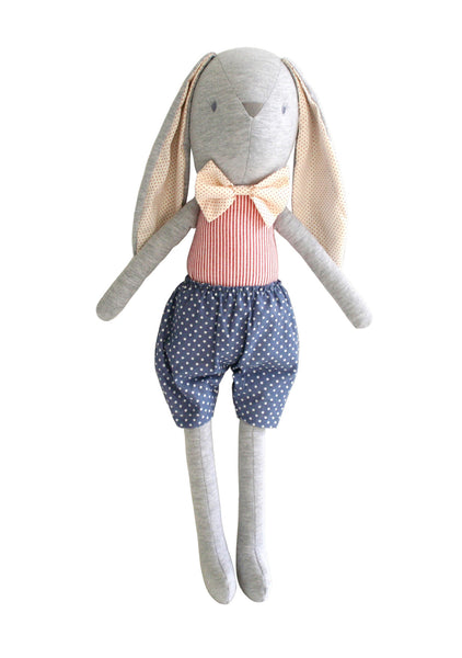 Alimrose Louie Bunny Cuddle Toy - French Blue