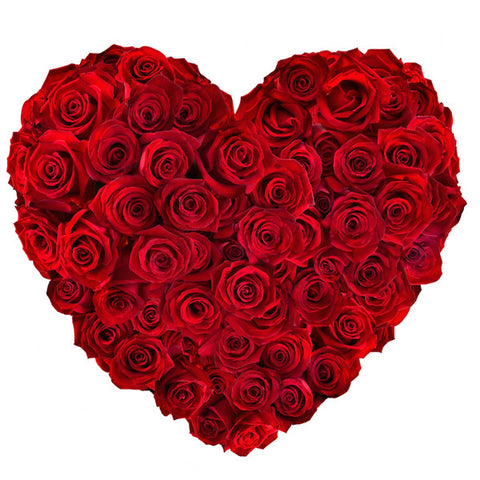 50 ROSES HEART SHAPE BOUQUET