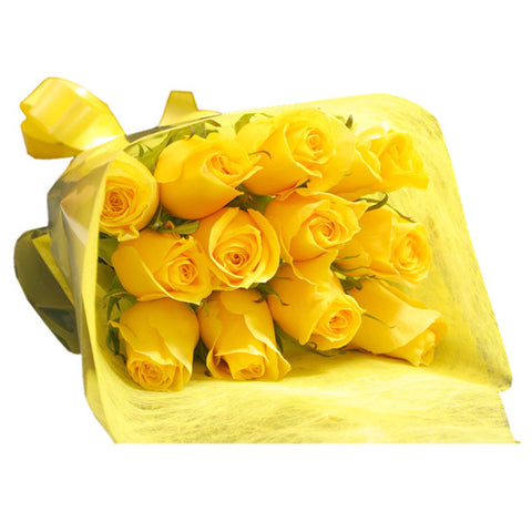 12 YELLOW FLOWERS BOUQUET