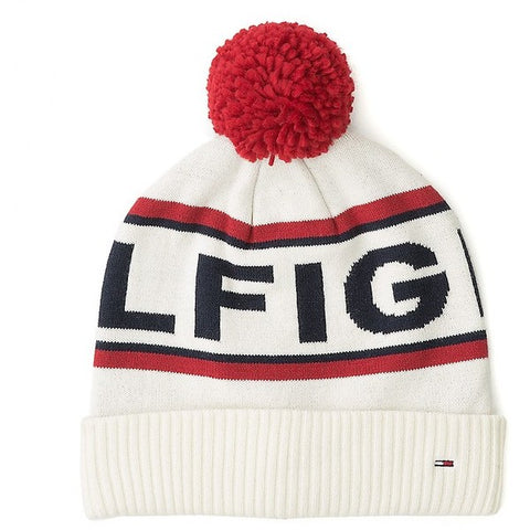 Tommy Hilfiger Women/'s Pom Hat and Scarf Set One Size