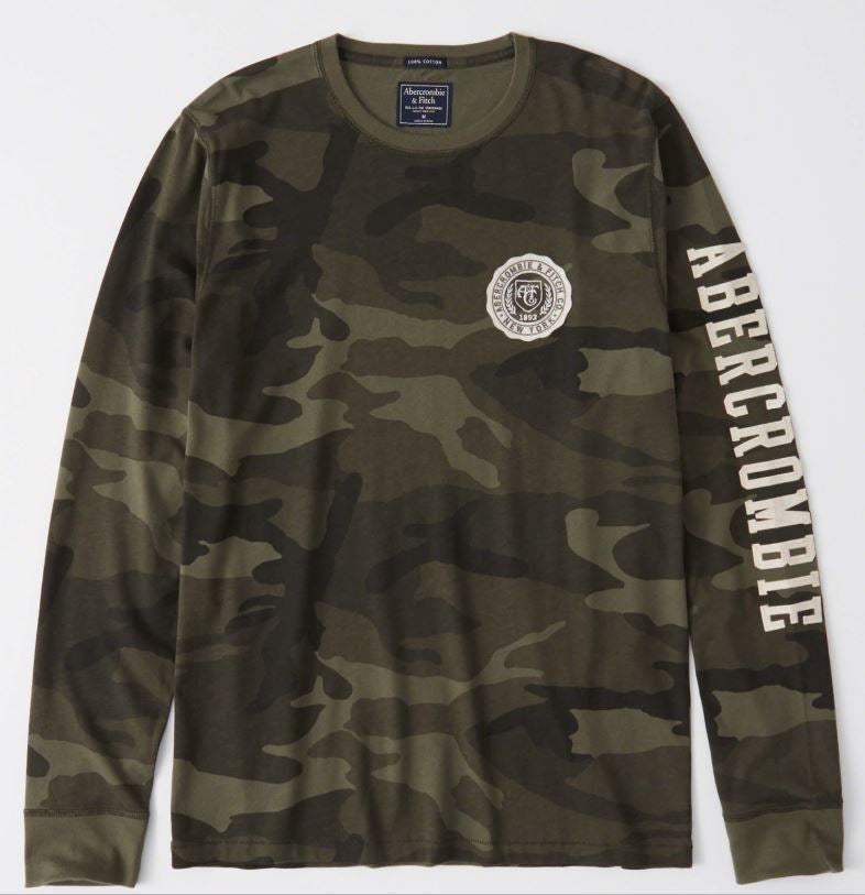 2a6d546646228 Abercrombie   Fitch Long Sleeve Applique Tee Camo – PickyShopping