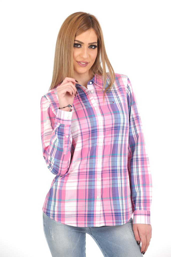 72cdab503e Tommy Hilfiger Women White & Pink Checked Casual Shirt – PickyShopping