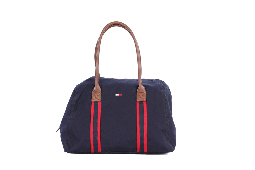 ... Tommy Hilfiger Red White Blue Canvas Unisex Duffle Bag Travel Beach Gym  Bag ...