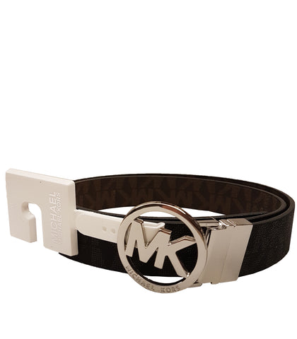 b66022ad5a85 Michael Kors Belt with MK Logo Plaque -Vanilla 55376C.  48.00. SOLD OUT.  QUICK VIEW