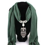 Dangling Owl Scarf Necklace - The Hoot House