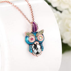 Starry Eyed Owl Pendant Necklace - The Hoot House