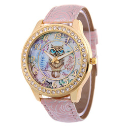 Vintage Style Owl Watch With Floral Band in 8 Colors - The Hoot House