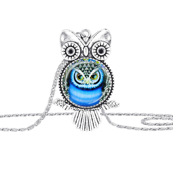 Owls Under Glass Pendant Necklace - The Hoot House