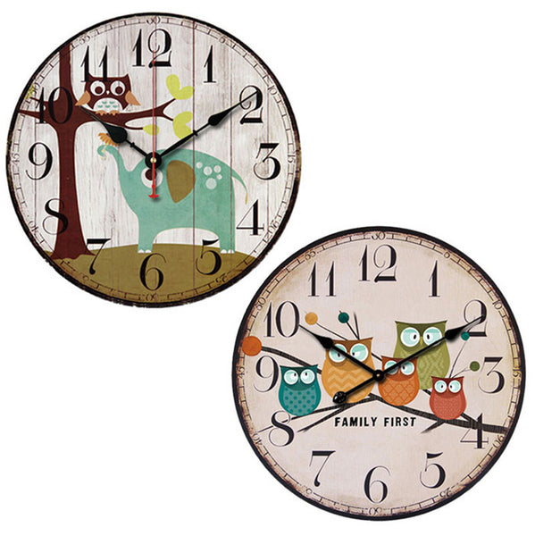 Owl Wall Clocks - The Hoot House