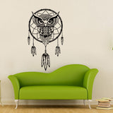 Black Owl Dream Catcher Wall Sticker - The Hoot House