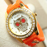 Big Eyed Owl Watch With Jelly And Chain Band - The Hoot House