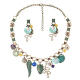 Bright Owl Necklace and Earrings Set - The Hoot House