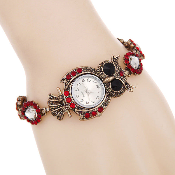 Crystal Owl Bracelet Watch - The Hoot House