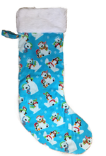 Christmas Stocking with white fur top