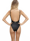 MUSCARI ONE PIECE LACE BLACK - La Michaux
