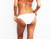 MIMOSA WHITE/ORANGE LACE BOTTOM - La Michaux