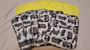 Lunch Bag Napkins 5 Zoo Animals & 5 Yellow