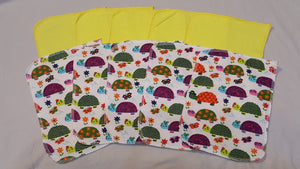 Lunch Bag Napkins 5 Turtles and 5 Yellow