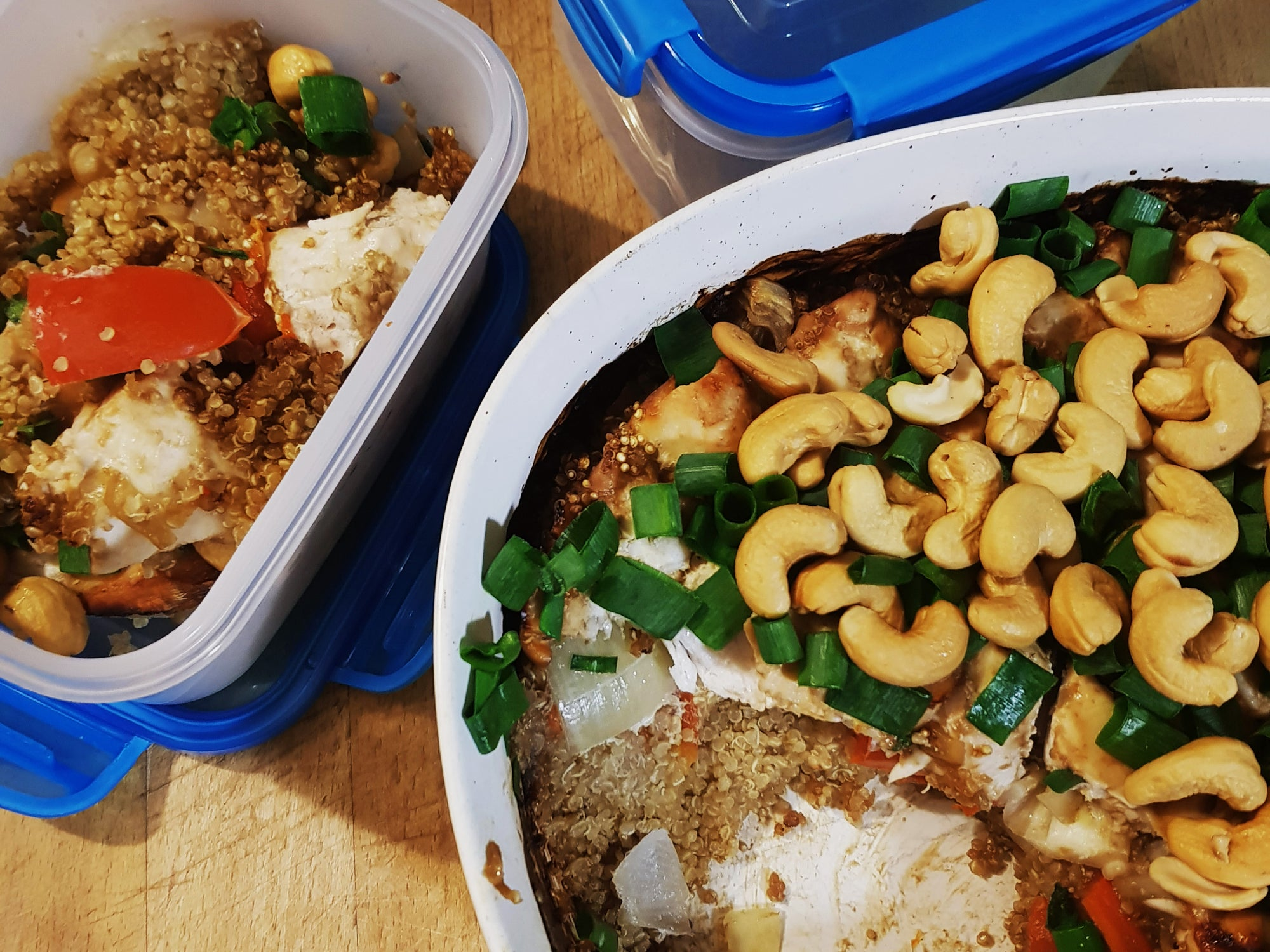 Meal Prep Sunday - Quinoa Cashew Chicken Bake