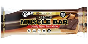 BSC - Nitrovol Muscle Bar - Chunky Peanut Butter Fudge Review