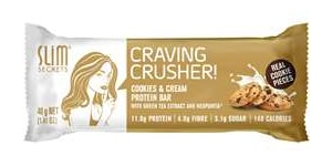 Slim Secrets - Craving Crusher - cookies & Cream Protein Bar