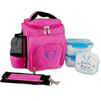 undeniable motion - meal prep bag - pink