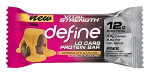 Vital Strength - Define Lo Carb Protein Bar - Chocolate Caramel