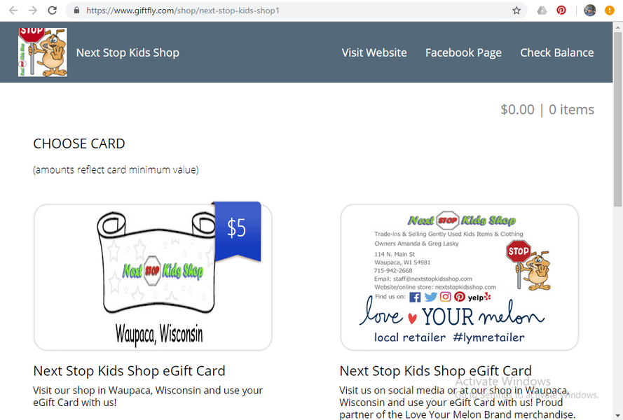 Two great eGift Card options now available...
