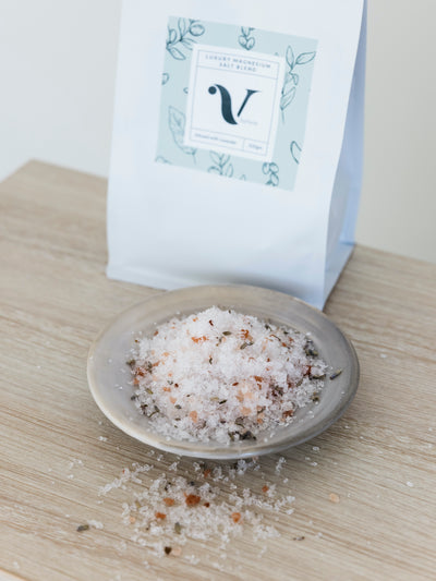Luxury Magnesium Salt Blend infused with Lavender