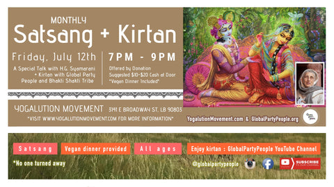 2019-07-12 - Global Party People Sri & Joakin Kirtaneers at Yogalution Monthly Satsang & Kirtan v1