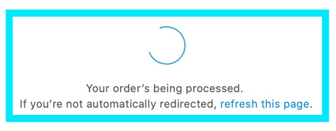 Your Order is Being Processed
