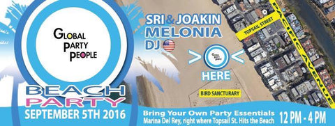 Beach Party with Global Party People DJs - Marina Del Rey - September 5th 2016