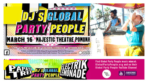 Majestic Nights with Global Party People DJs at Majestic Theatre in Pomona Queensland AustraliaONLINE TICKETS at Oztix: https://bit.ly/2Eg4Wfm Physical tickets available at Berkelouw Books Eumundi, The Drop, A Little Shop of Soul & New Earth Cafe.  FULL EVENT PAGE: MajesticNights,Electrik Lemonade,Papaya Tree,Global Party People  #pomona #danceparty #livemusic #dance #livebands #reggae #soul #funk #rap #local #goodvibes #music #noosa #livegigs #venue #singing #bands #queensland #majestic #majestictheatre #disco #partypeople
